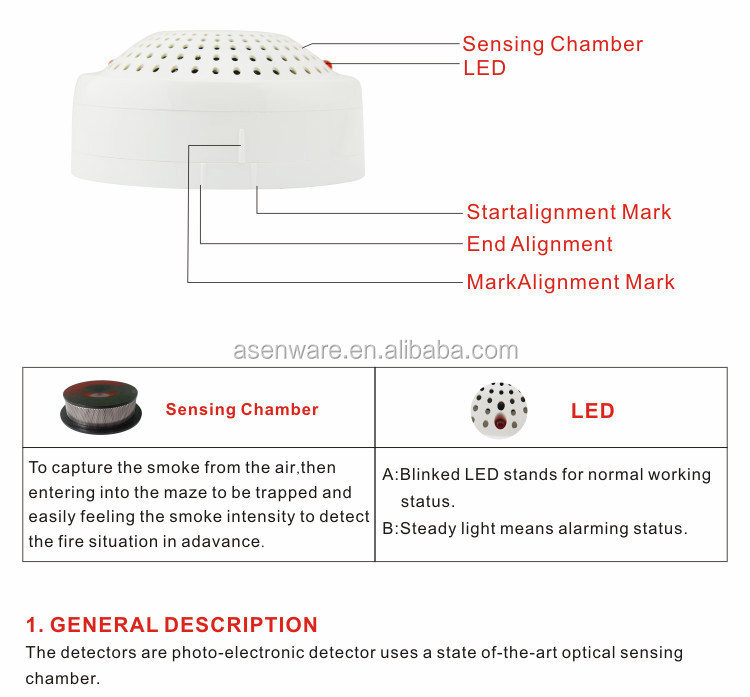 24V Conventional Photoelectric Smoke Detector