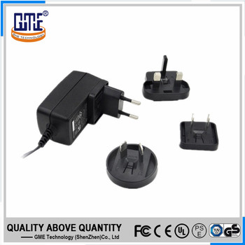 UL FCC GS CE RCM PSE certified CEC VI universal travel easy adapter 24v 0.5a