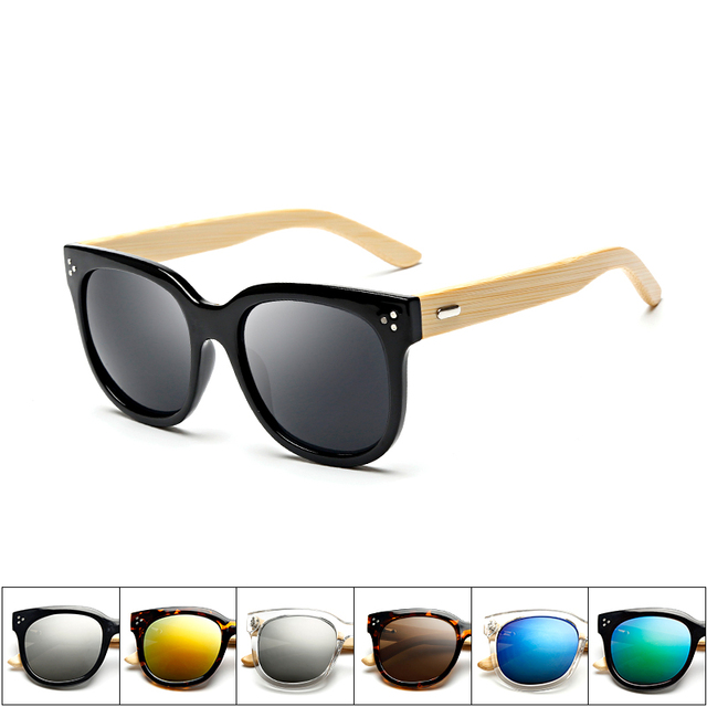 151307 Superhot Wholesale Cheap Wooden Bamboo Wood Italy Design Variety Lenses Women In China Sports Import Retro Sunglasses
