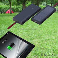 New Power Bank Led Torch Light Portable Solar Power Bank