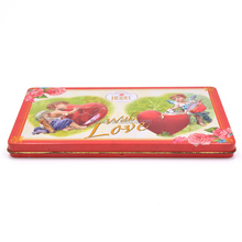 Rectangle hinged chocalate metal tin packaging box