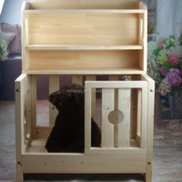 Fine quality attractive fashion pet house bed wooden pet house dog cage with locker