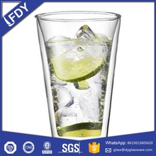 High Grade Double Wall Tea Thermos Glass/Wholesale Cheap Glassware Cup