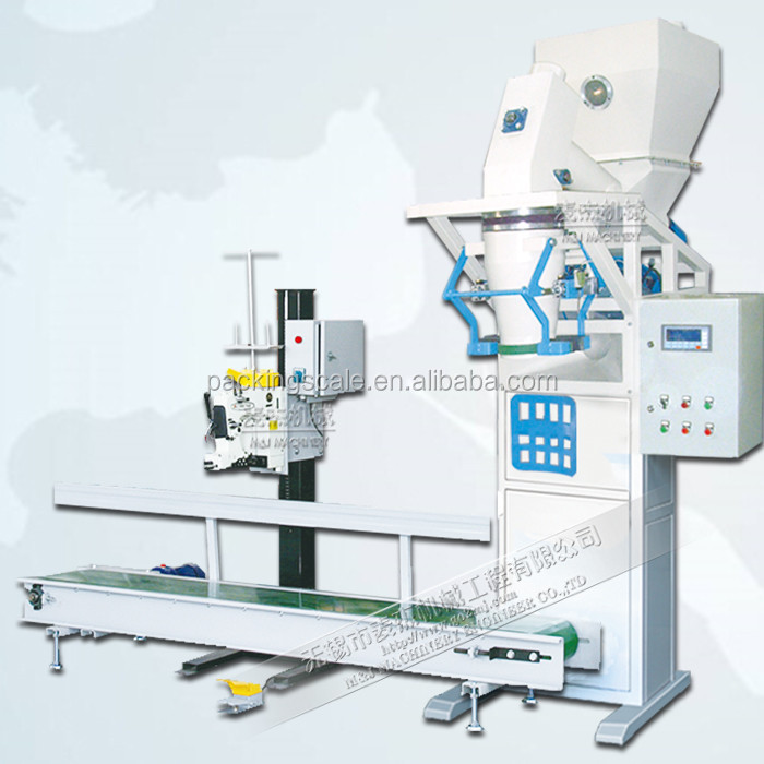 bleaching earth powder bag packaging equipment with stitching machine