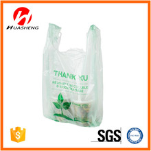 100% biodegradable t-shirt type plastic bags
