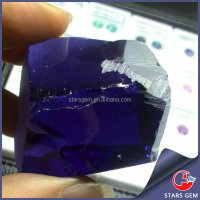 Uncut rough lab created raw tanzanite nano material