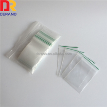 Color Line Clear Zip Lock Hang Hole Plastic Packaging Pouch Bag For Food