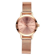 Women's Quartz Watches Wrist Watches Rose Gold Small Dial Mesh Steel Bracelet