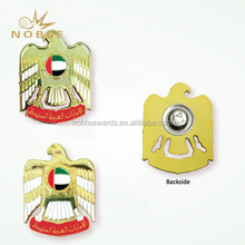 National Day Souvenirs Gifts UAE Metal Eagle Pin Badges