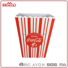 Different size Plastic Popcorn Containers, 12.8cm resuable melamine popcorn bucket