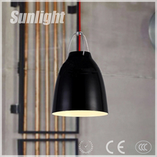 modern industrial style black/white cup shape vintage iron indoor pendant light for home