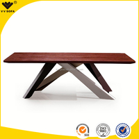 kangbao wooden dining room furniture, modern dining room furniture wood dining table, new designtable, quality table with veneer
