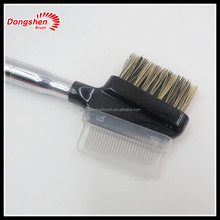 metal eyebrow comb with boar bristle eyebrow brush