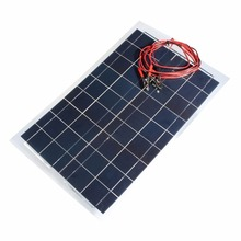 30W 12V Solar Charger Kit Ultra Thin Flexible Solar Panel Charger for Small Power Appliances