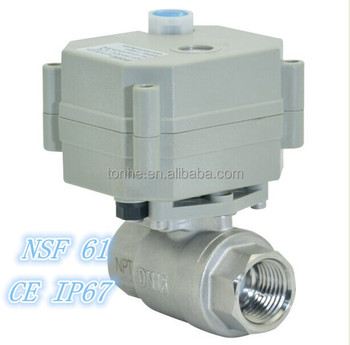 1/2'' 304 Stainless Steel Electric Actuator Ball Valve for Water Treatment (T15-S2-B)
