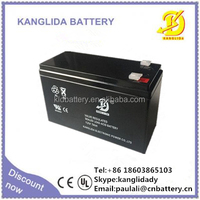 lead acid alarm battery, 12v7ah rechargeable sealed battery maintenance free