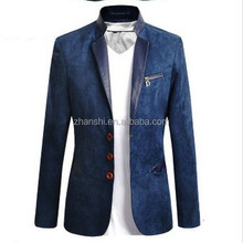 OEM Latex Fashion European Coat High Quality Velvet Man Coat Suit