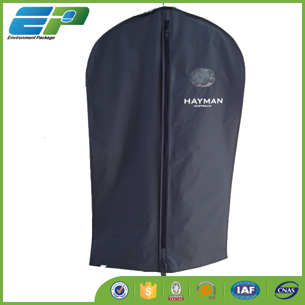 40'' Black Garment packaging bag with clear window