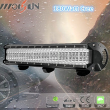 High lumens 180w led offroad light bar, off road led light bar 180 watt Jeep offroad parts waterproof 180 watt led light