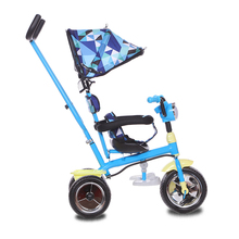 Children metal frame tricycle kid tricycle bike with parent handle push bar