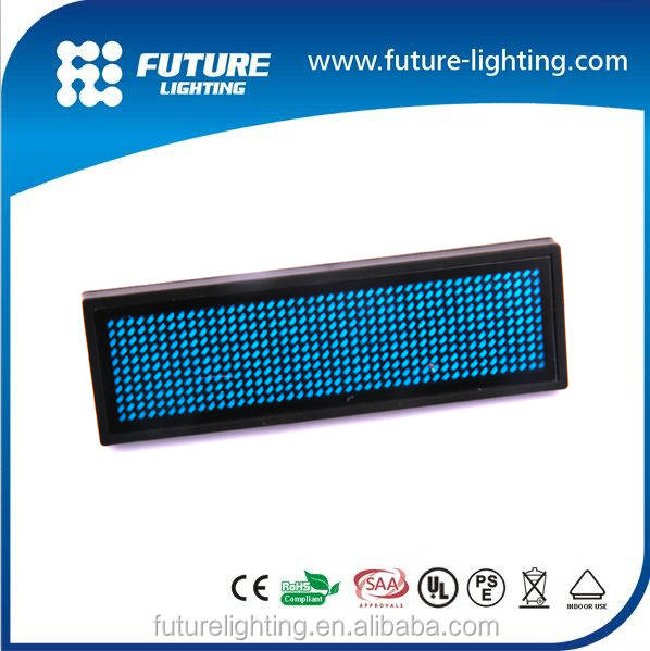 Led flashing badge digital led name badge programmable electronic led sign