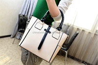 Beautiful leather tote bag for lady branded handbag made in China