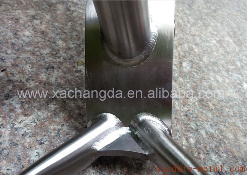 XACD titanium fat bike frame with gear box titanium MTB bicycle frame with handing brush finished custom fat bike frame parts