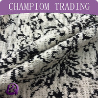 Champiom Textile 65/35 cotton polyester hacci jacquard fabric for sweater fabric