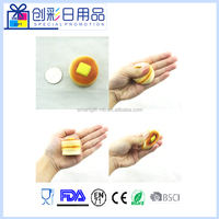 mini cylindrical bread kawaii squishy slow rising scented toys keychain