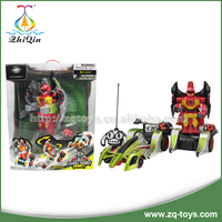 Promotion cool rc drift car toy 360 degrees car transform robot toy