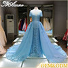 Alibaba China A line lace long tail applique sheath evening dress women fashion wedding dress
