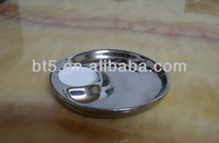 silver ceramic plate divided snack tray