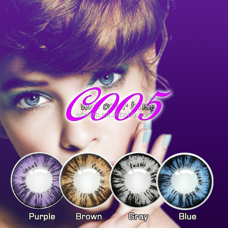 Korea Yearly disposable of iris color contact lens with SFDA approval