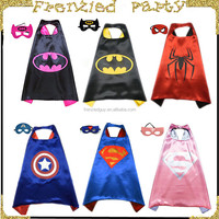 wholesale popular kids superhero cape with mask