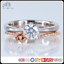 Wholesale Diamond Micro Pave Jewelry Jewels 0.50CT Wedding Engagement Ring and Bridal Sets Rings in White Rose Gold Celtic