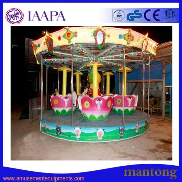 Attractive Prince Plane Merry Go Round Carousel Horse Rides