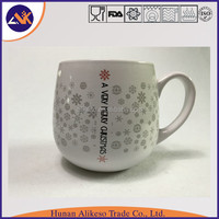 Top sale and high quality cheap bulk white color stoneware ceramic mug with handle