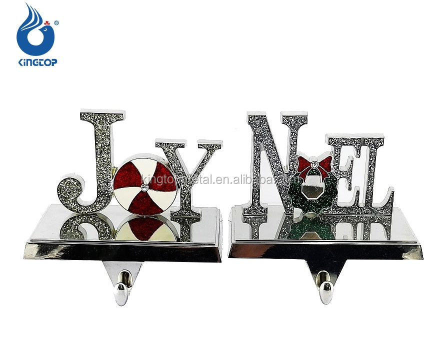 Words Wish Metal Casting Christmas Stocking Holder