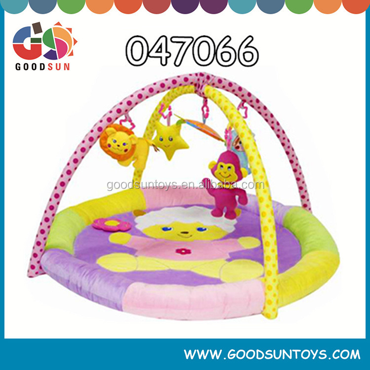 EN71 educational kids toy baby activity play gym mat cheap cute LOW MOQ padded baby play floor mat