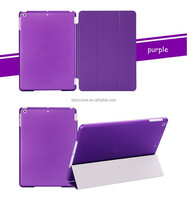 1 Pair/lot 1 Pc PU Leather Magnetic Front Smart Cover + 1 Pc Crystal Hard Back Case for Apple iPad 2 Multi-Color