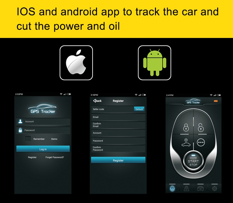 smartphone car alarm GPS Tracker car alarm with application free