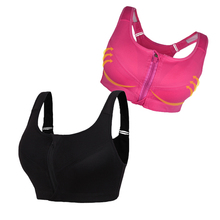 Wholesale Sports Bra Womens With Zipper Plus Size For Workout Running Gym Padded Running Underwear Sprot Top