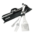 Outdoor camping stainless steel bbq set 3 pieces bbq set
