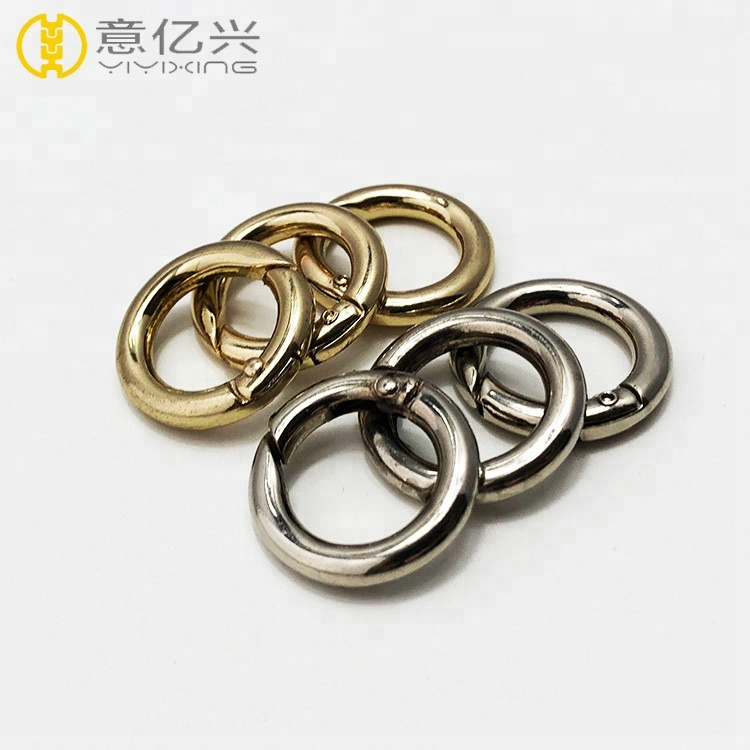 OEM Metal Round O Ring Type Spring Ring Loaded Gate <strong>Buckle</strong>