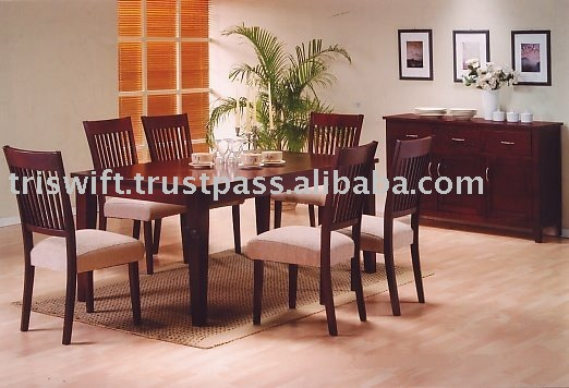 Wooden Dining Table Set, Wooden Chair, Dining Chair, Dining Room Furniture, Dining Table and Chairs