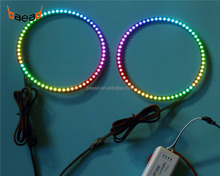 color changing magic LED halo rings kit LED angel eyes 150mm for universal car