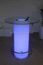 with ice bucket led glass top bar table, glass top coffee table, glass top cocktail table