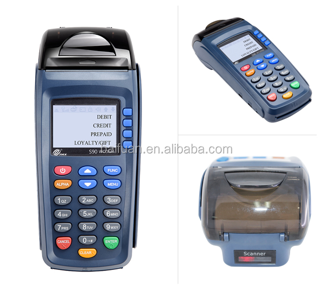 Wifi Handheld GPRS Linux POS Terminal Pax S90 with SIM Card with Printer with Magnetic card IC card Reader