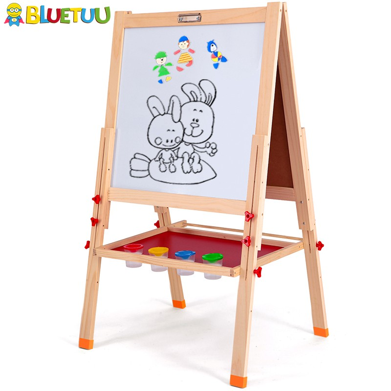 Diy painting toy educational wall whiteboard for kindergarten with four legs