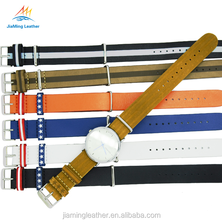 Fashion Watch Band Genuine Leather Nato Strap
